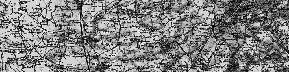 Old map of Westfield Brook in 1896