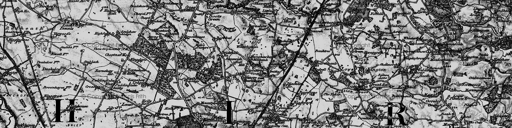 Old map of Goostrey in 1896