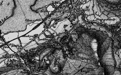Old map of Afon Anafon in 1899