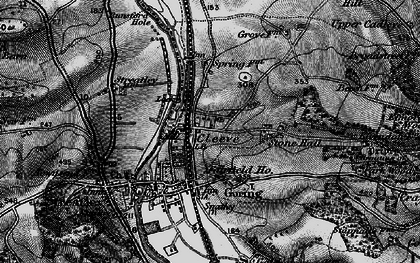 Old map of Goring in 1895
