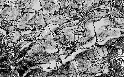 Old map of Gorran Churchtown in 1895