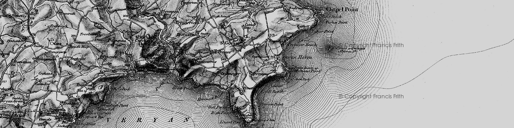 Old map of Gorran Haven in 1895