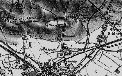 Old map of Gorse Hill in 1896