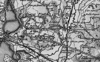 Old map of Gorseinon in 1897