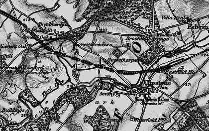 Old map of Lings, The in 1899