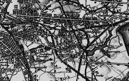Old map of Gorton in 1896