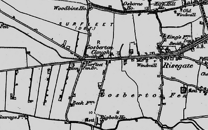 Old map of Woodbine Ho in 1898