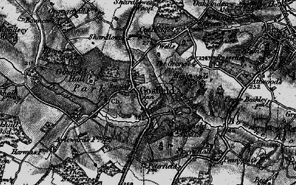 Old map of Gosfield in 1895
