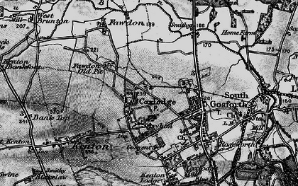 Old map of Gosforth in 1897