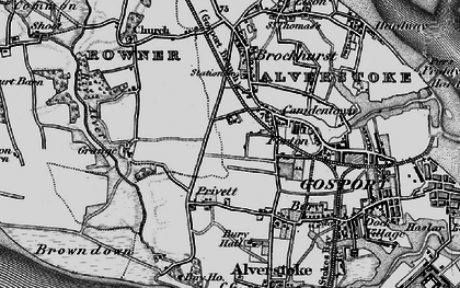 Old map of Gosport in 1895