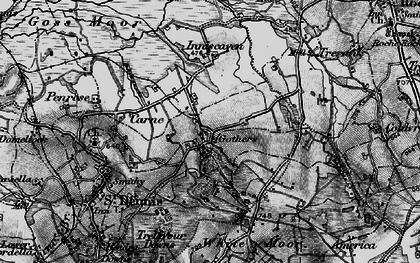 Old map of Gothers in 1895