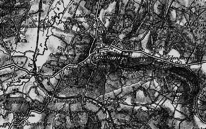Old map of Lidwells Ho in 1895