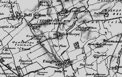 Old map of Youlthorpe Pasture Hill in 1898