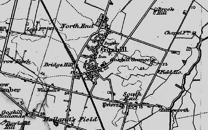 Old map of Goxhill in 1895