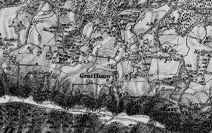 Old map of Graffham in 1895