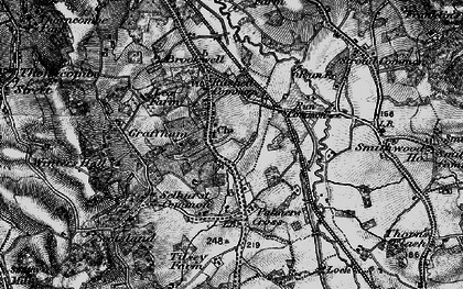 Old map of Wey-South Path in 1896