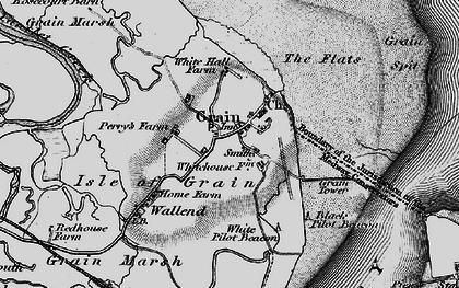Old map of Lees Marshes in 1896