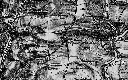 Old map of Grampound Road in 1895