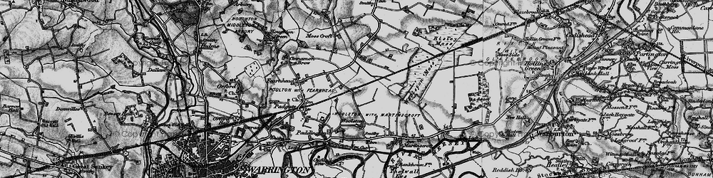 Old map of Grange in 1896