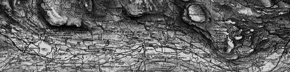 Old map of Whitfield Fell in 1897