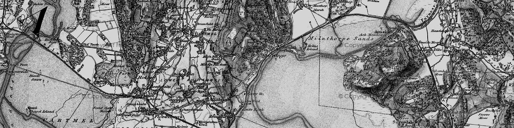 Old map of Grange-Over-Sands in 1898