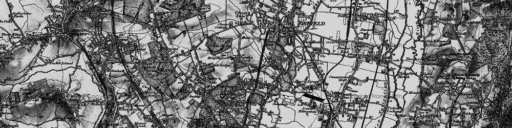 Old map of Grange Park in 1896