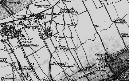 Old map of Grangetown in 1898
