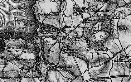 Old map of Aber Bach in 1898