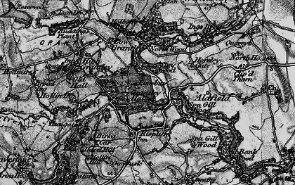 Old map of Grantley Hall in 1897
