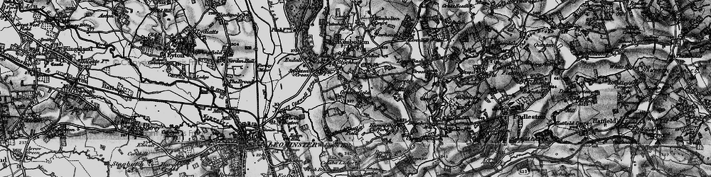 Old map of Widgeon Hill in 1899