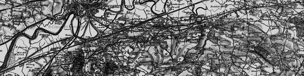 Old map of Grappenhall in 1896