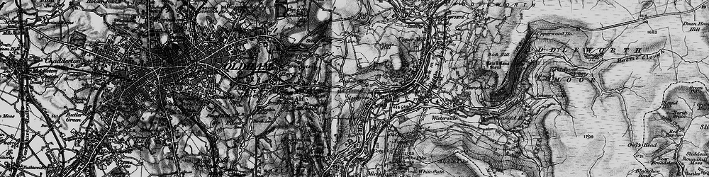 Old map of Grasscroft in 1896