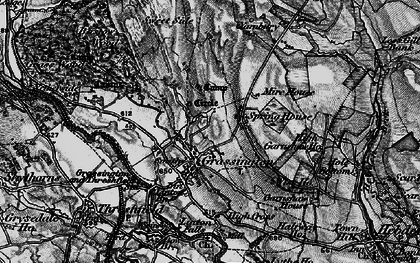 Old map of Grassington in 1898