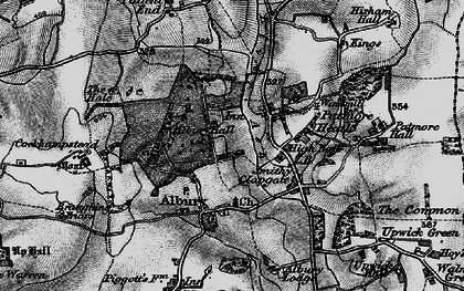 Old map of Albury Hall in 1896