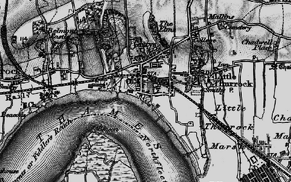 Old map of Grays in 1896