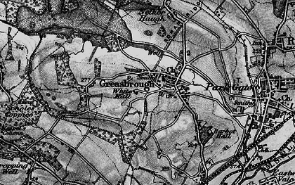 Old map of Greasbrough in 1896