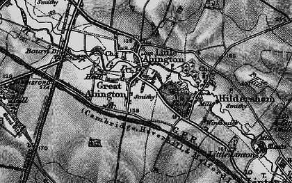 Old map of Great Abington in 1895