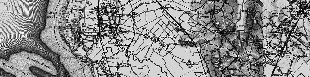 Old map of Withins, The in 1896