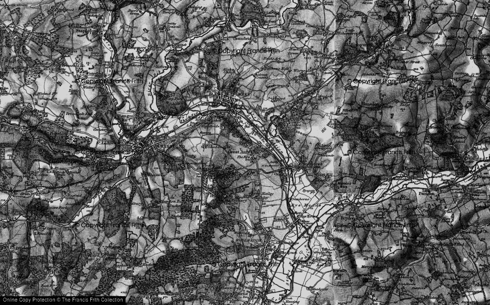 Old Map of Great Amwell, 1896 in 1896
