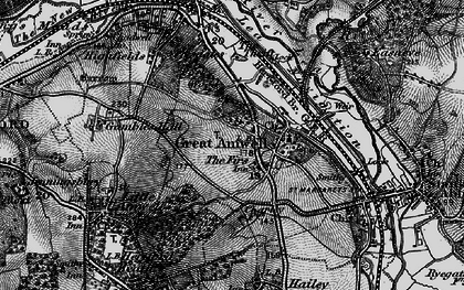 Old map of Great Amwell in 1896