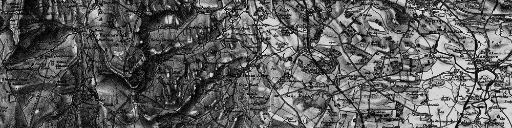 Old map of Whygill in 1897