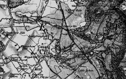 Old map of Great Ayton in 1898