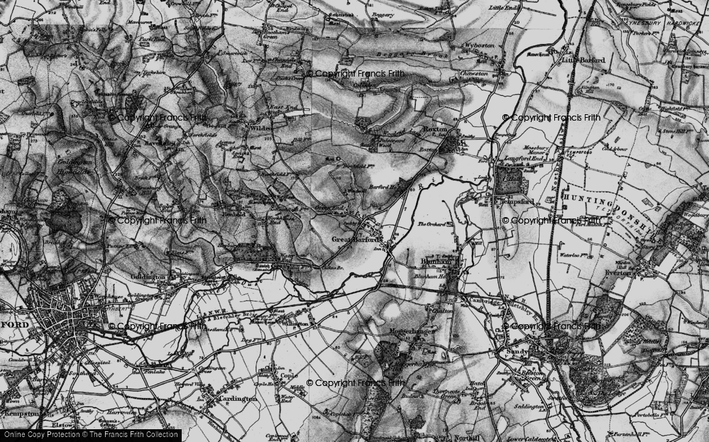 Old Map of Historic Map covering Barford Bridge in 1896