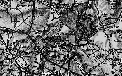 Old map of Great Barr in 1899