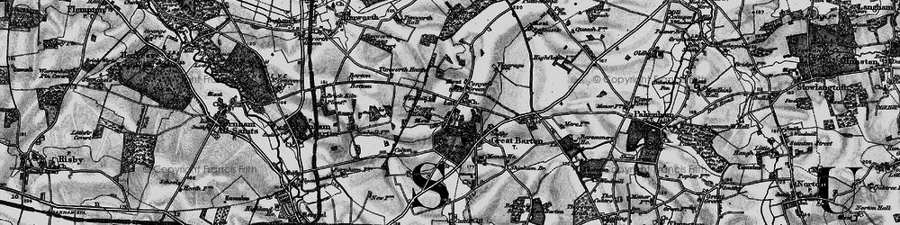 Old map of Timworth Heath in 1898