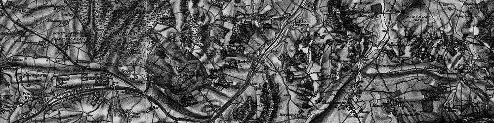 Old map of Great Bedwyn in 1898