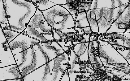 Old map of Great Bircham in 1898