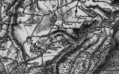Old map of Wytherling Court in 1895