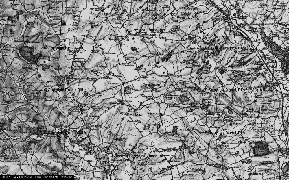 Old Map of Historic Map covering Tollemache Hall in 1896