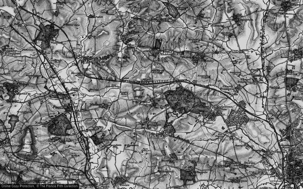 Old Map of Historic Map covering Althorp Park in 1898
